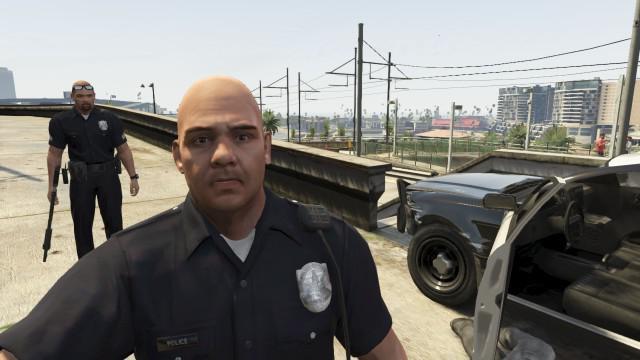 как стать полицейским в гта 5 без модов